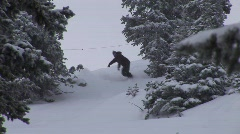 Snowboard Powder Stock Footage