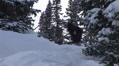Snowboarding Powder Stock Footage