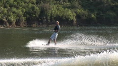 Summer sports wakeboard 806 16 Stock Footage