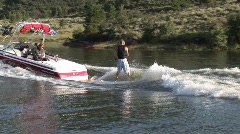 Summer sports wakesurf 806 1 Stock Footage