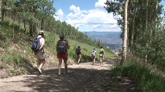 Hiking in Snowmass 1 Stock Footage