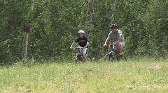 Mountain Biking in Snowmass 4 Stock Footage