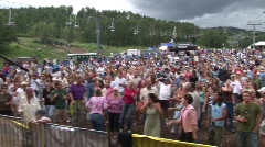 People at a concert in Snowmass Stock Footage