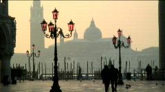 Venice at dusk Stock Footage