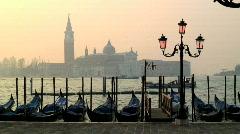 Stock Video Footage of Gondolas Venice