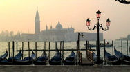 Stock Video Footage of Gondolas Venice