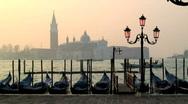 Gondolas Venice Stock Footage