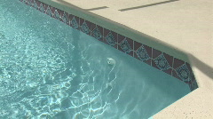 Residential pool Stock Footage