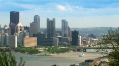 Pittsburgh 504 - Skyline Pan Stock Footage
