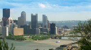 Stock Video Footage of Pittsburgh 504 - Skyline Pan