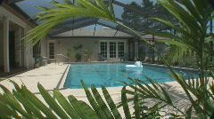 Residential pool Stock Footage