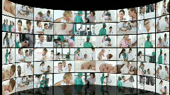 Medical  footage collage in HD -2 Stock Footage