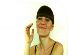 Young atractive woman smiling and flirting with camera  Stock Footage