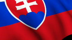 Slovakian Flag Stock Footage