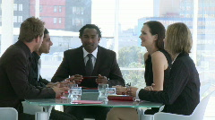 Businessmeeting in an office Stock Footage
