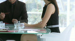 Hand Shake in a businessmeeting Stock Footage