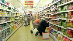 Supermarket B Stock Footage
