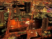 Stock Video Footage of Las Vegas Strip View
