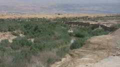 The Jordan River near baptism site Qasr Al Yahud, Holy Land Israel HD Stock Footage