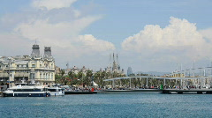 Port Vell, Barcelona Stock Footage