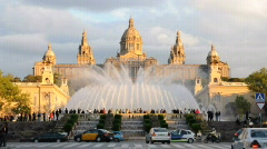 Magic Fountain, Barcelona Stock Footage