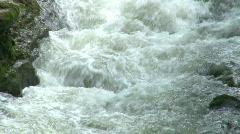 Rapid Water Flowing in River Stock Footage