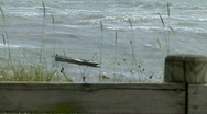 Stormy Sea and Boat Stock Footage