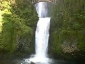 Multnomah Falls in Oregon Stock Footage
