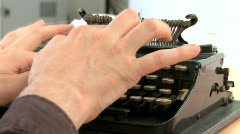 Old typewriter Stock Footage