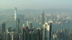 View Over Hong Kong Skyline Stock Footage