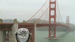 Misty Golden Gate Bridge (7 of 12) Stock Footage