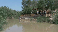 Baptism site Qasr Al Yahud in the Jordan River Holy Land and Jordan HD Stock Footage
