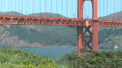 Sunny Golden Gate Bridge (4 of 11) Stock Footage