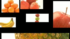 Assortment of Fruit and veg on a film reel -3 - stock footage