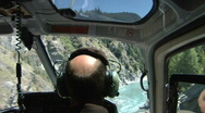Stock Video Footage of Daring Helicopter ride over Lord of the Rings river
