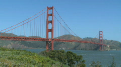 Sunny Golden Gate Bridge (7 of 11) Stock Footage