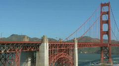 Sunny Golden Gate Bridge (10 of 11) Stock Footage