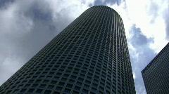 Skyline of Tel Aviv: Azrieli Buildings time lapse Stock Footage
