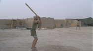 Marines play Baseball in Afghanistan (HD) Stock Footage