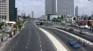 Stock Video Footage of Skyline of Tel Aviv: Kaplan intersection time lapse