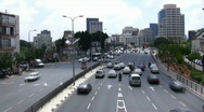 Stock Video Footage of Skyline of Tel Aviv: Menahem Begin Rd. time lapse