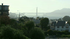 Bay Bridge view from San Francisco Stock Footage