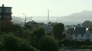 Stock Video Footage of Bay Bridge view from San Francisco
