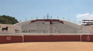 Bull fighting arena Stock Footage