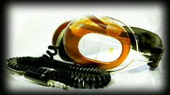 headphone music dj vintage retro turntable party audio sound - stock footage
