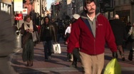 Stock Video Footage of Grafton Street, Dublin