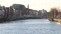 Ha'Penny Bridge, Dublin Stock Footage