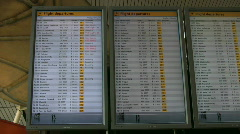 Flight information board 1 Stock Footage