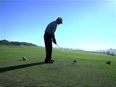 Stock Video Footage of Tracking shot golf tee-off