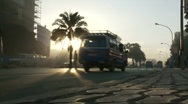 Minibus in Africa Stock Footage